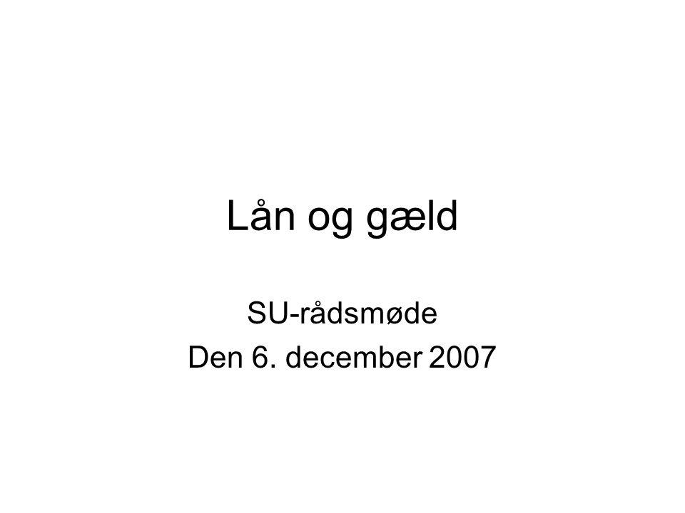SU-rådsmøde Den 6. december 2007
