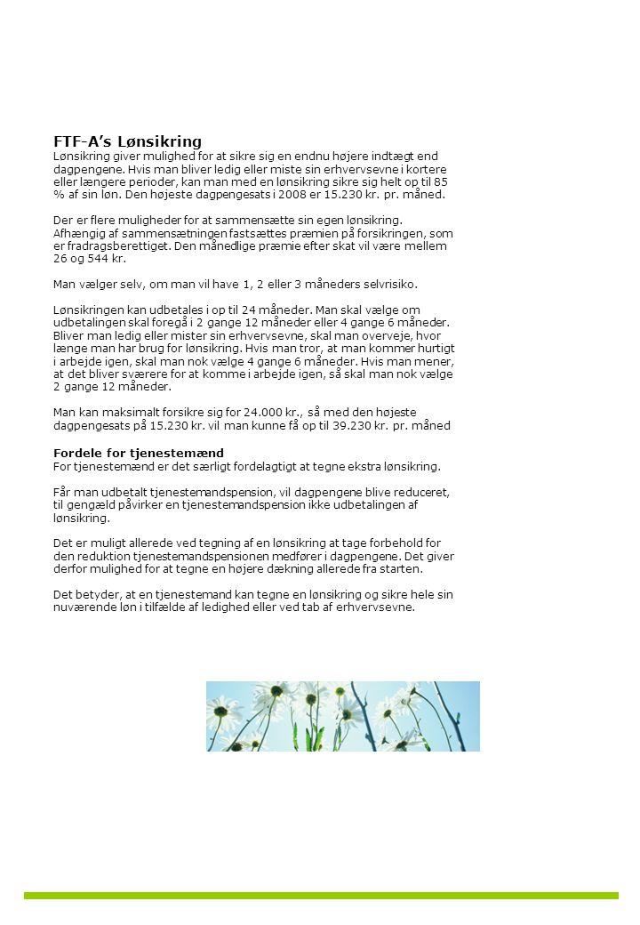 FTF-A's Lønsikring Fordele for tjenestemænd