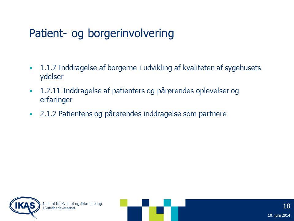 Patient- og borgerinvolvering