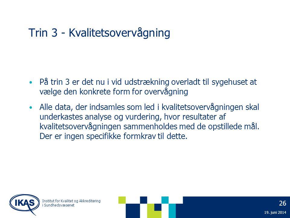 Trin 3 - Kvalitetsovervågning