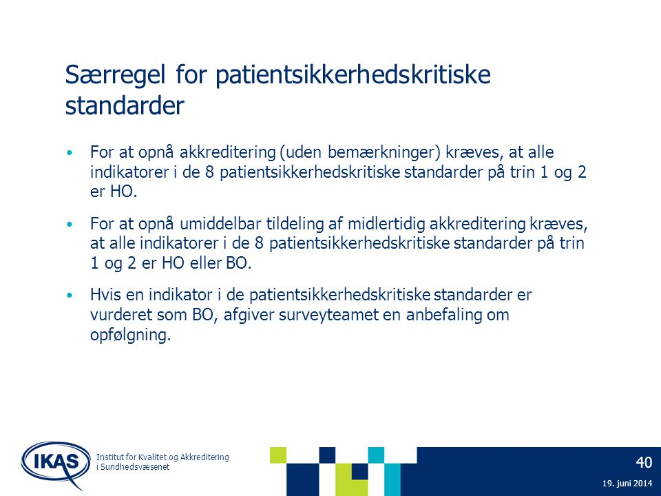 Særregel for patientsikkerhedskritiske standarder