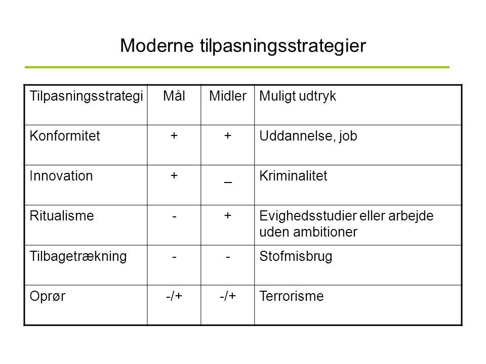 Moderne tilpasningsstrategier