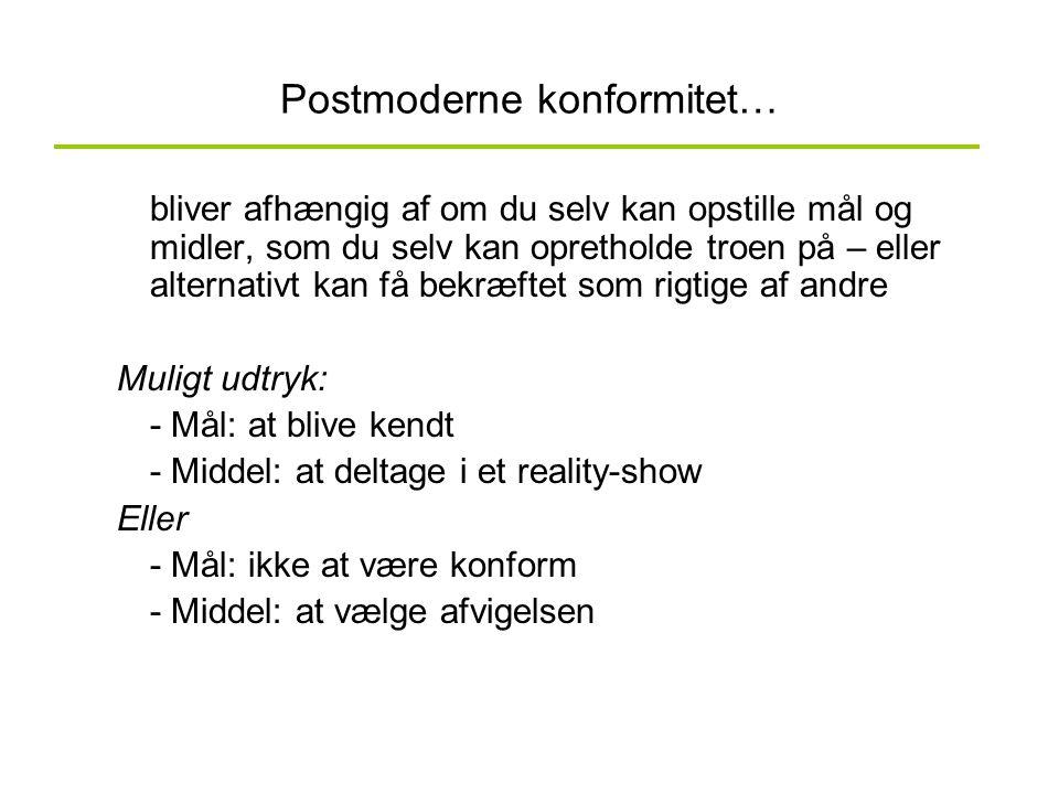 Postmoderne konformitet…