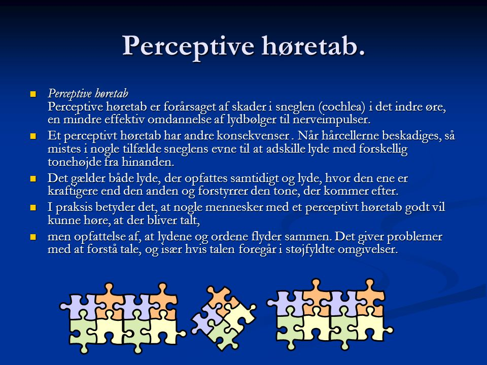 Perceptive høretab.