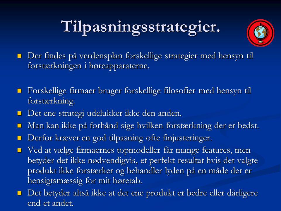 Tilpasningsstrategier.
