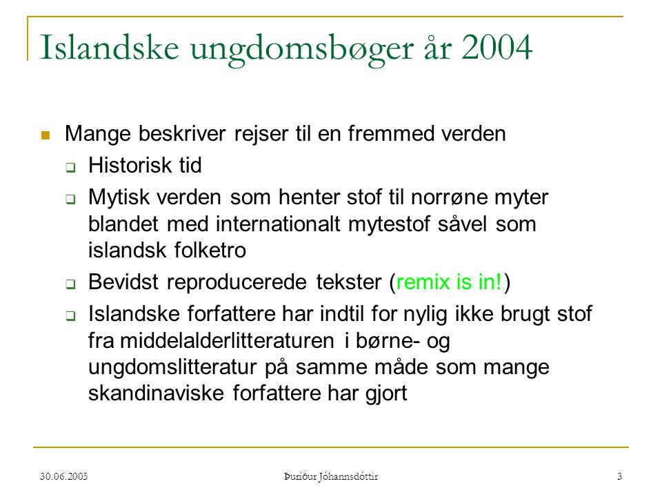 Islandske ungdomsbøger år 2004