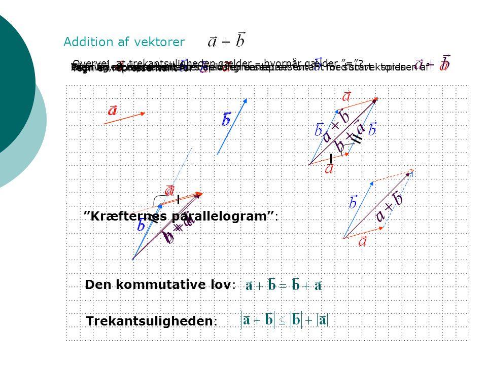r a b + r b a + r a b + r b a + r b a + Addition af vektorer