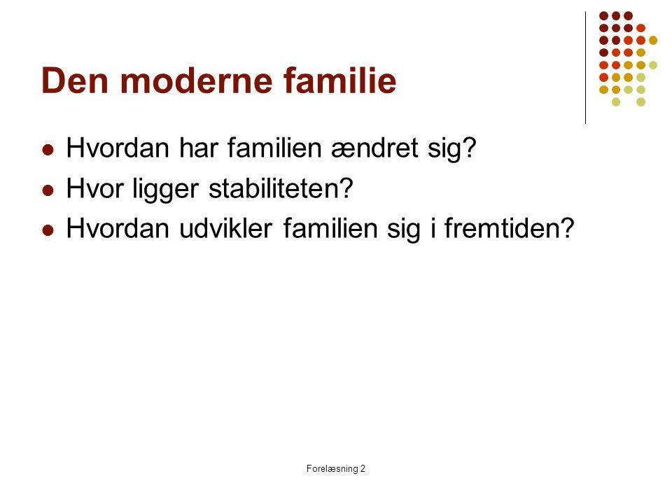 Den moderne familie Hvordan har familien ændret sig