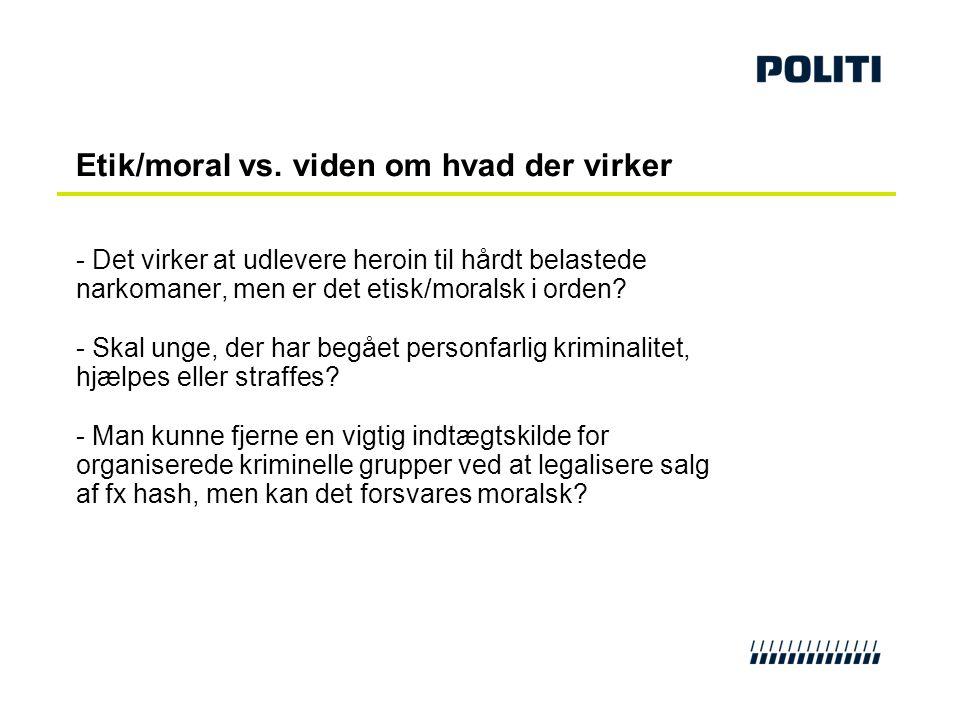 Etik/moral vs. viden om hvad der virker