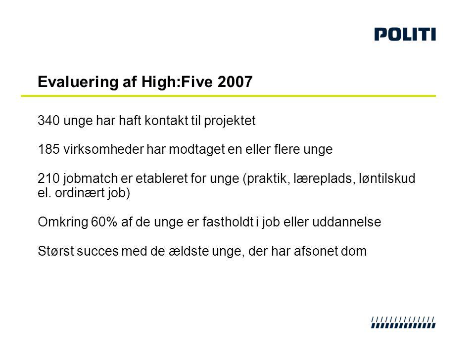 Evaluering af High:Five 2007