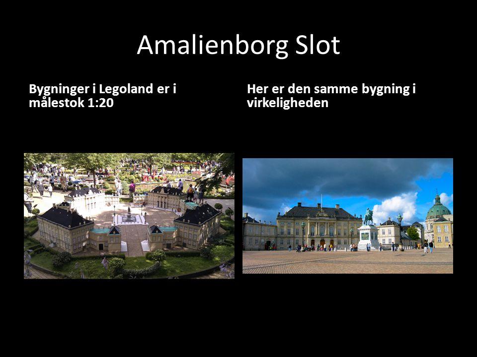 Amalienborg Slot Bygninger i Legoland er i målestok 1:20