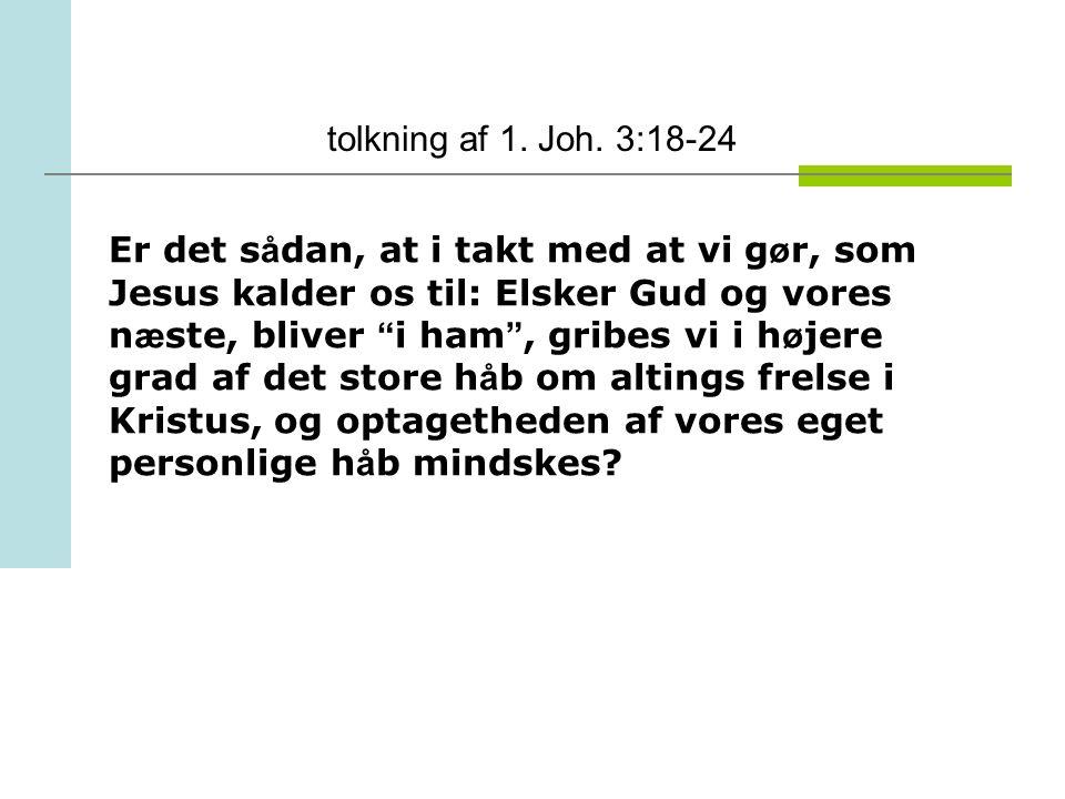 tolkning af 1. Joh. 3:18-24
