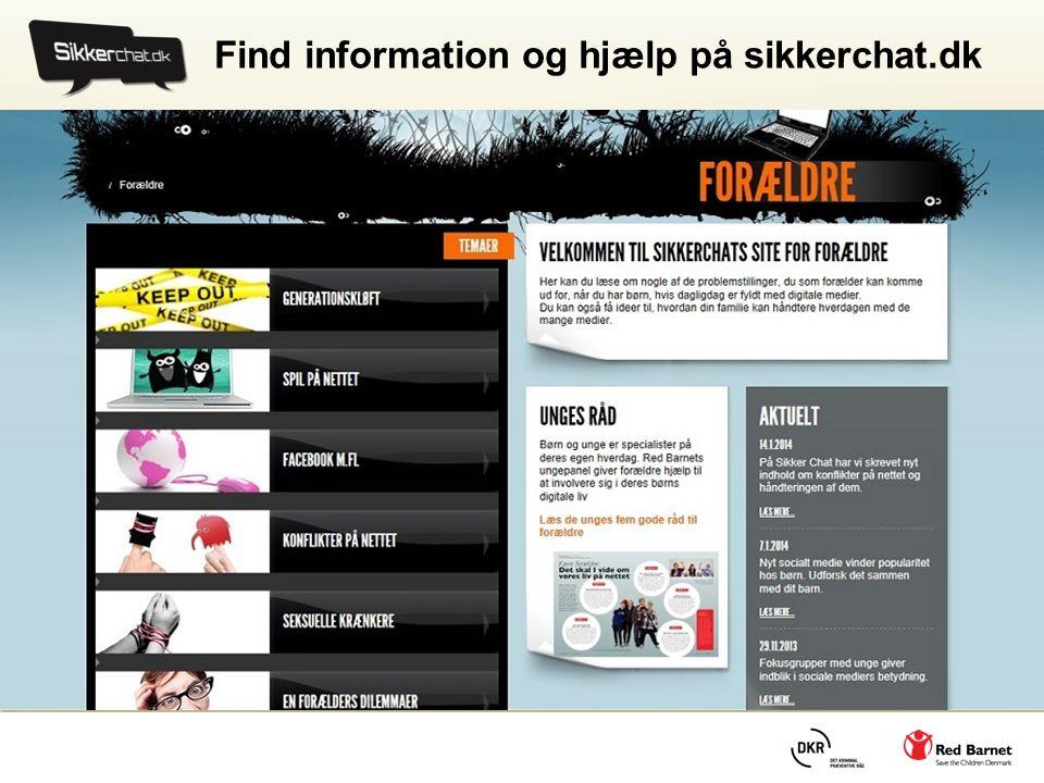 Find information og hjælp på sikkerchat.dk