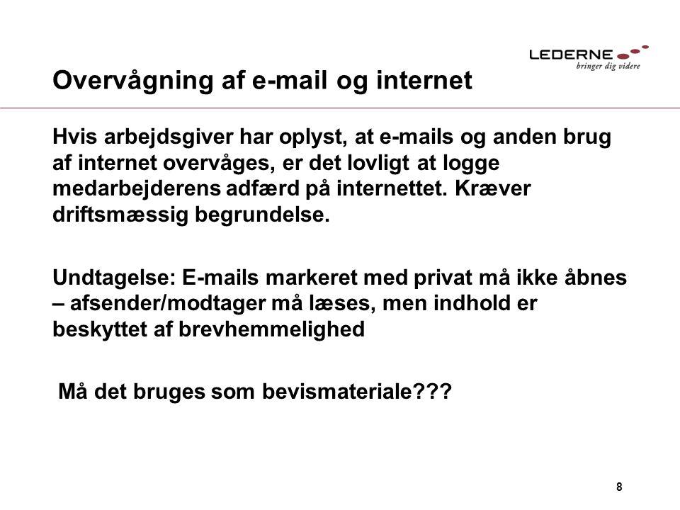 Overvågning af e-mail og internet