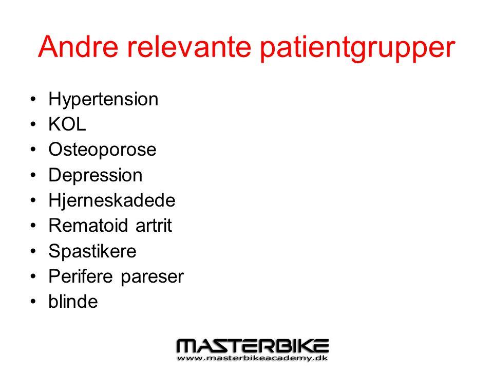 Andre relevante patientgrupper