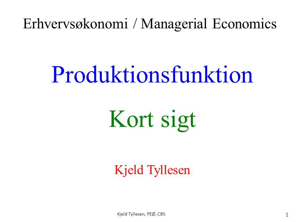 Produktionsfunktion Kort sigt Erhvervsøkonomi / Managerial Economics