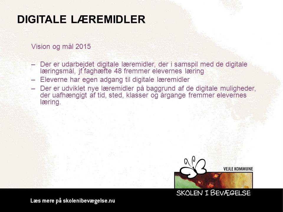Digitale Læremidler Vision og mål 2015
