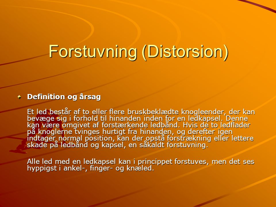 Forstuvning (Distorsion)