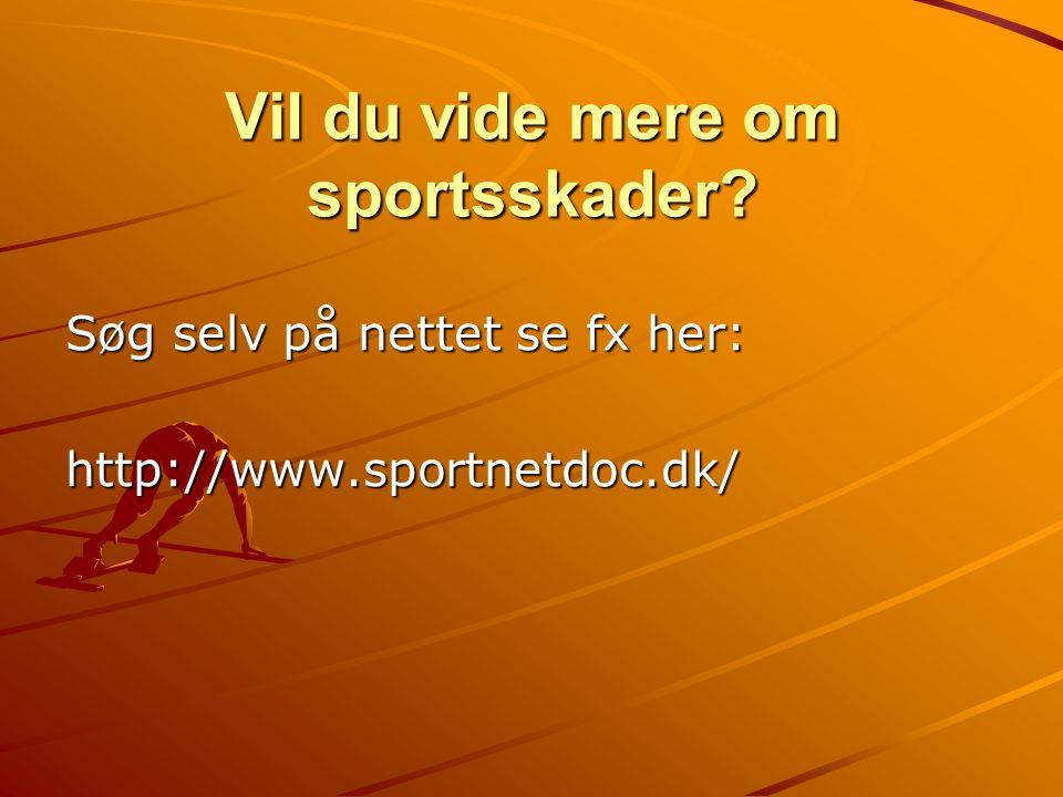 Vil du vide mere om sportsskader