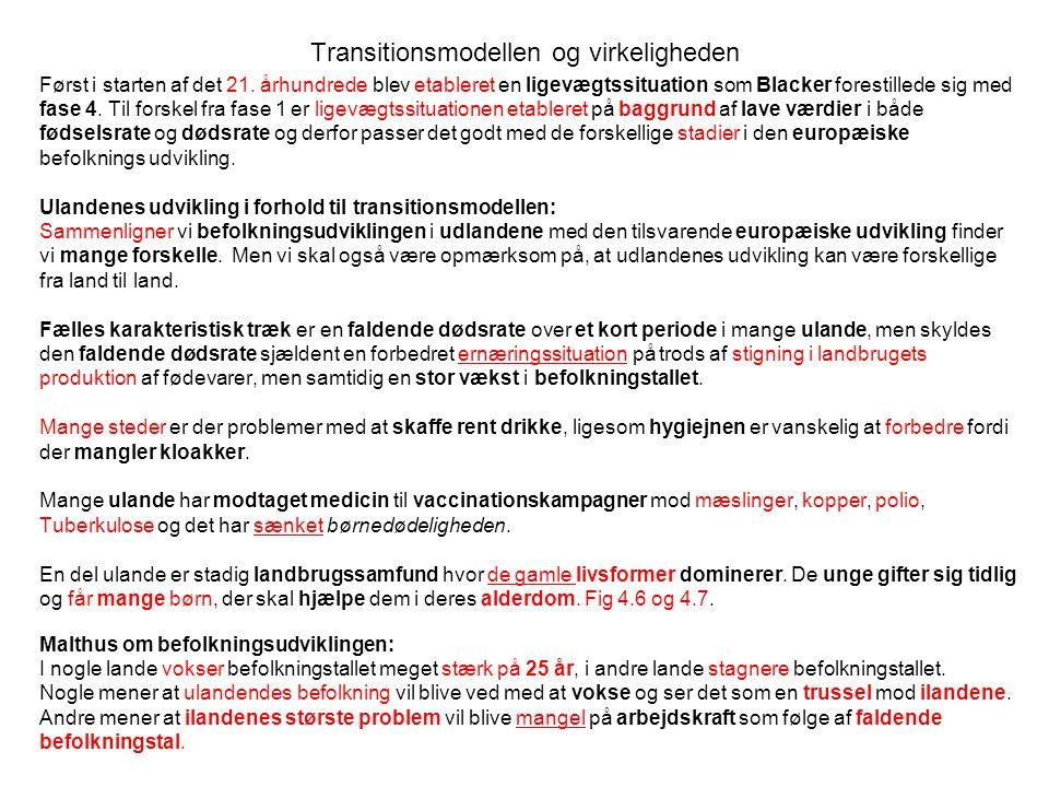 Transitionsmodellen og virkeligheden