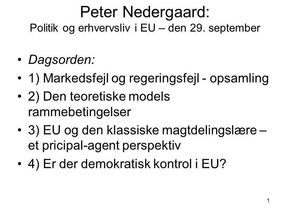 Peter Nedergaard: Politik og erhvervsliv i EU – den 29. september