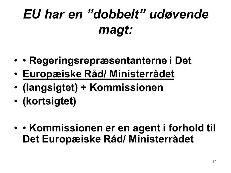 EU har en dobbelt udøvende magt: