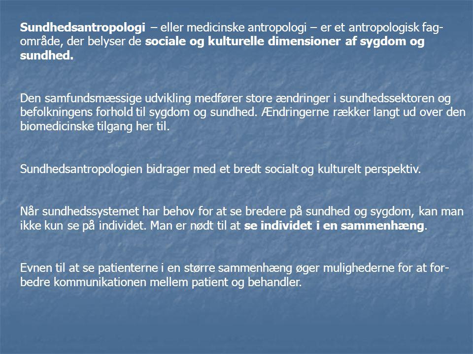 Sundhedsantropologi – eller medicinske antropologi – er et antropologisk fag-