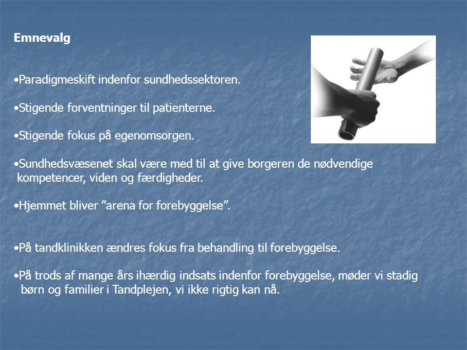 Paradigmeskift indenfor sundhedssektoren.