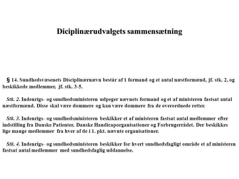 Diciplinærudvalgets sammensætning