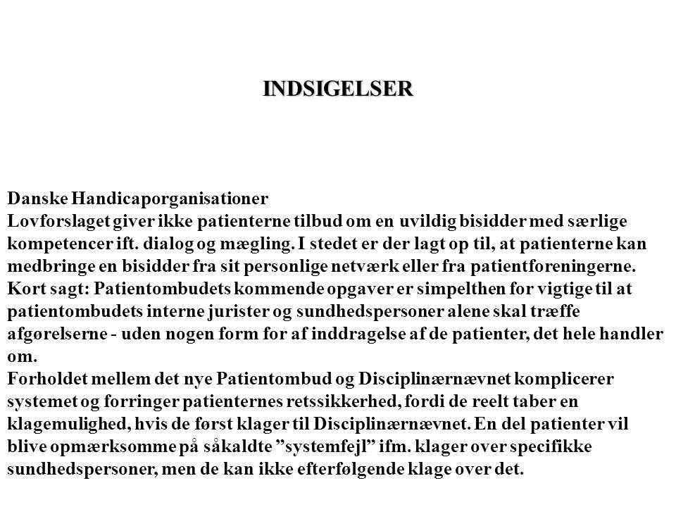 INDSIGELSER Danske Handicaporganisationer