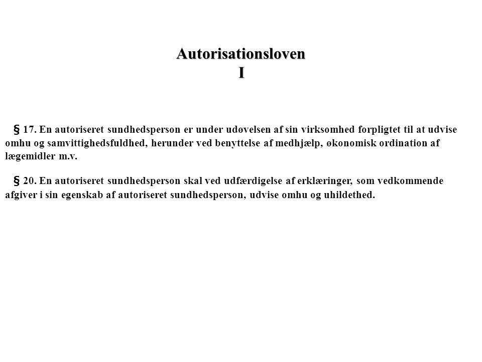 Autorisationsloven I