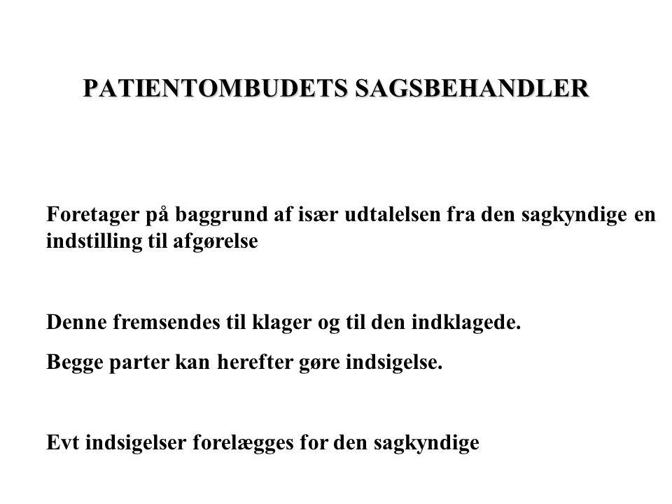 PATIENTOMBUDETS SAGSBEHANDLER