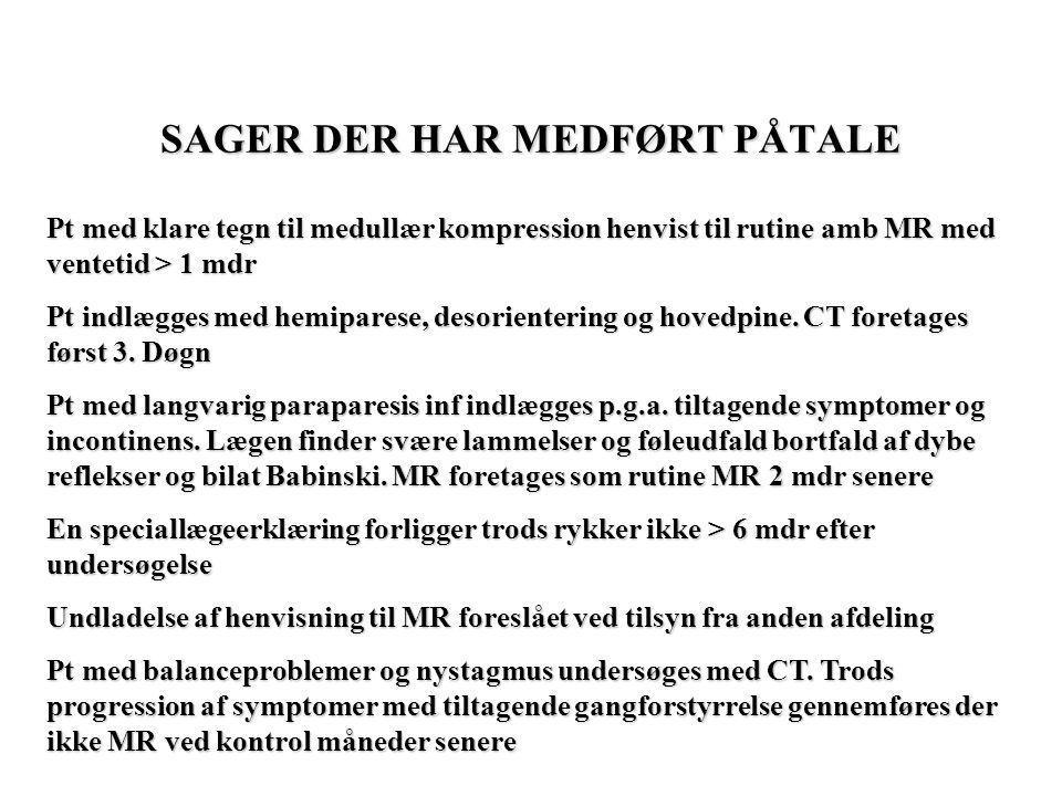 SAGER DER HAR MEDFØRT PÅTALE