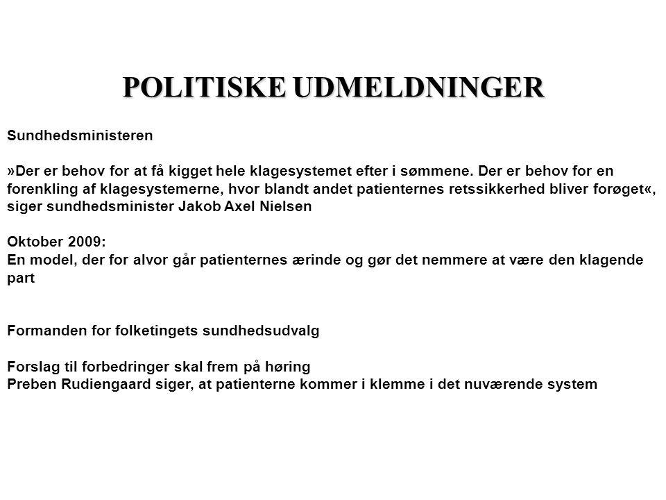 POLITISKE UDMELDNINGER