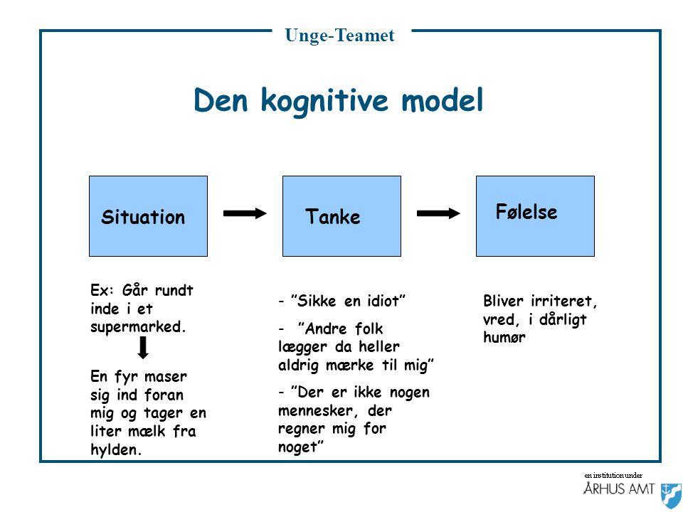 Den kognitive model Følelse Situation Tanke