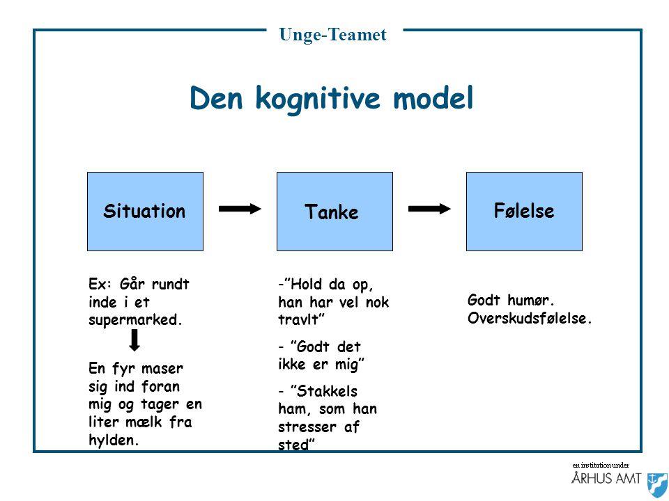 Den kognitive model Situation Følelse Tanke