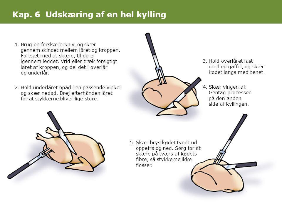 Kap. 6 Udskæring af en hel kylling