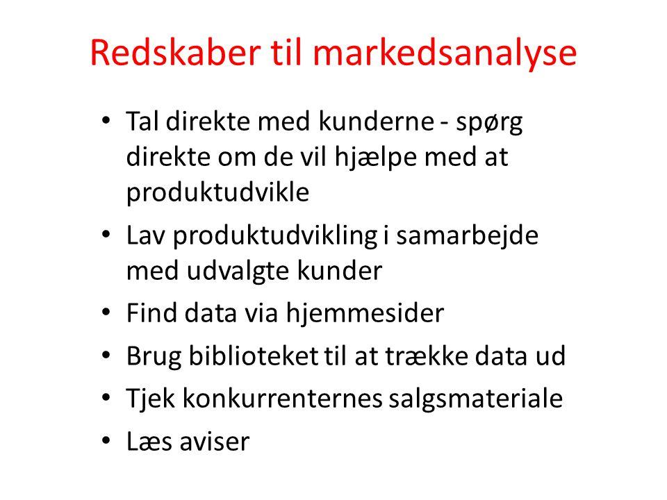 Redskaber til markedsanalyse
