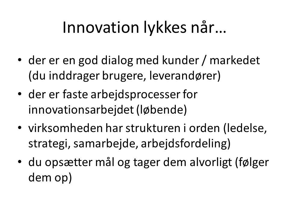 Innovation lykkes når…