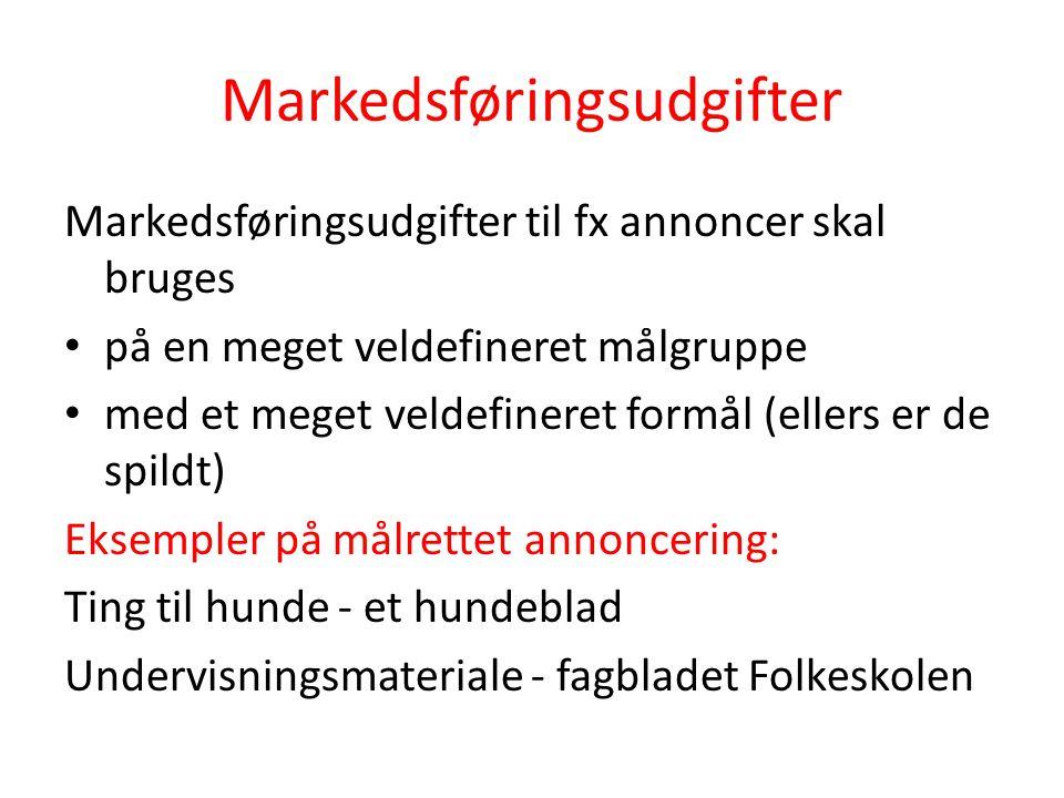 Markedsføringsudgifter