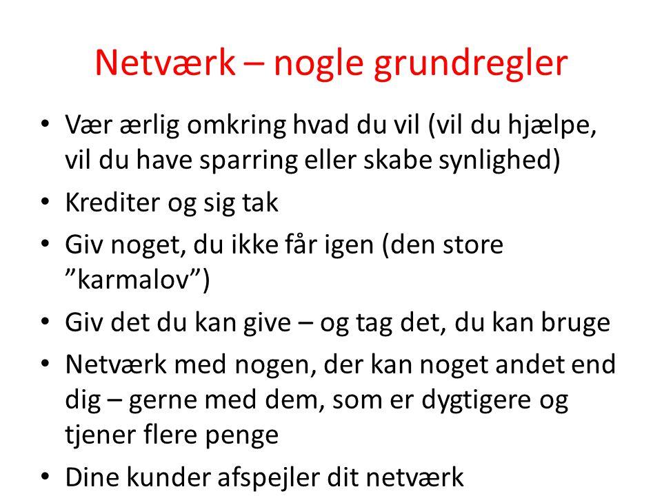 Netværk – nogle grundregler