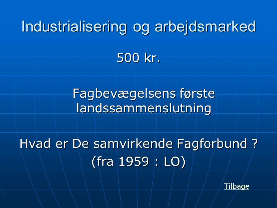 Industrialisering og arbejdsmarked