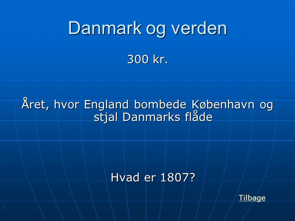 Året, hvor England bombede København og stjal Danmarks flåde