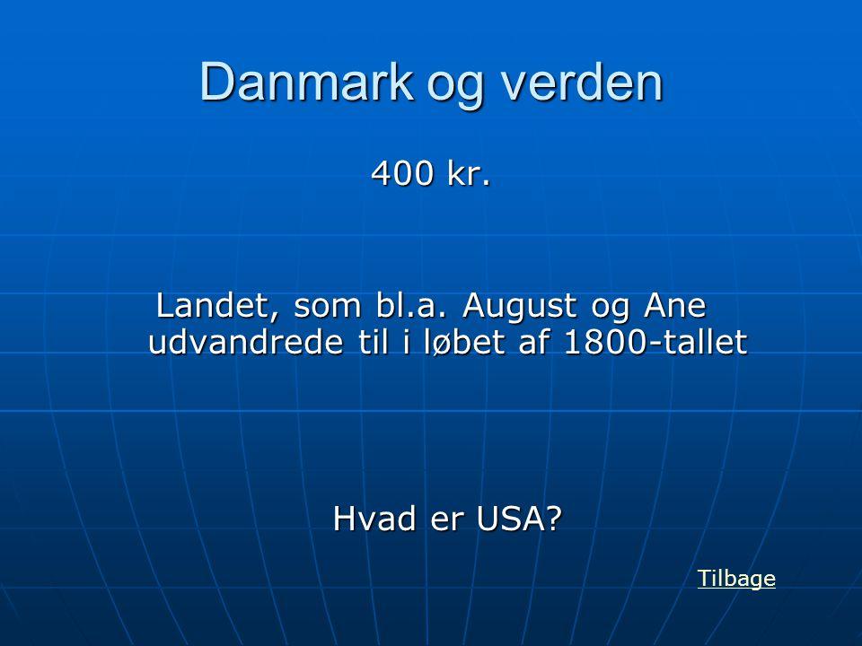 Landet, som bl.a. August og Ane udvandrede til i løbet af 1800-tallet