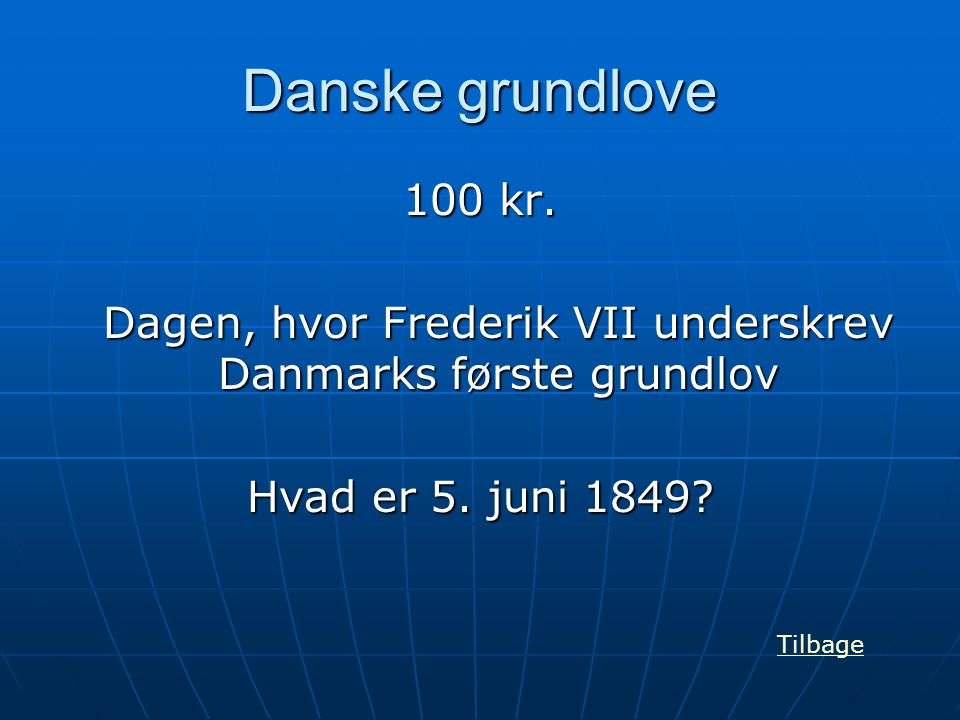 Dagen, hvor Frederik VII underskrev Danmarks første grundlov