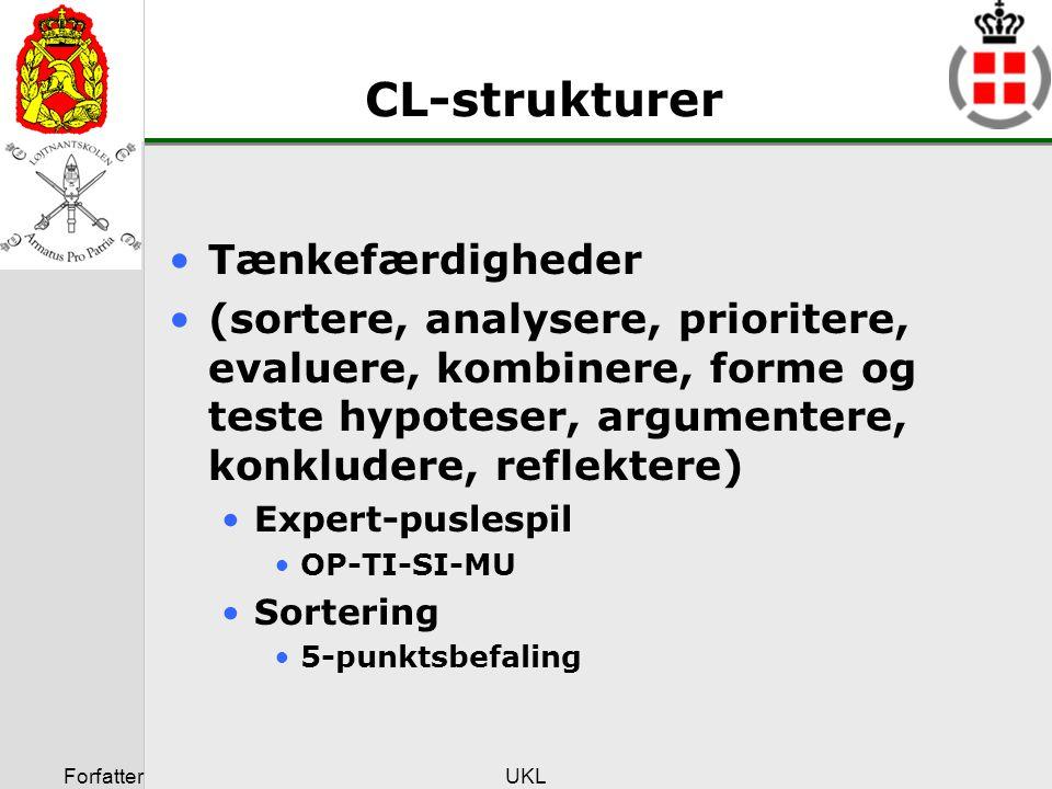 CL-strukturer Tænkefærdigheder