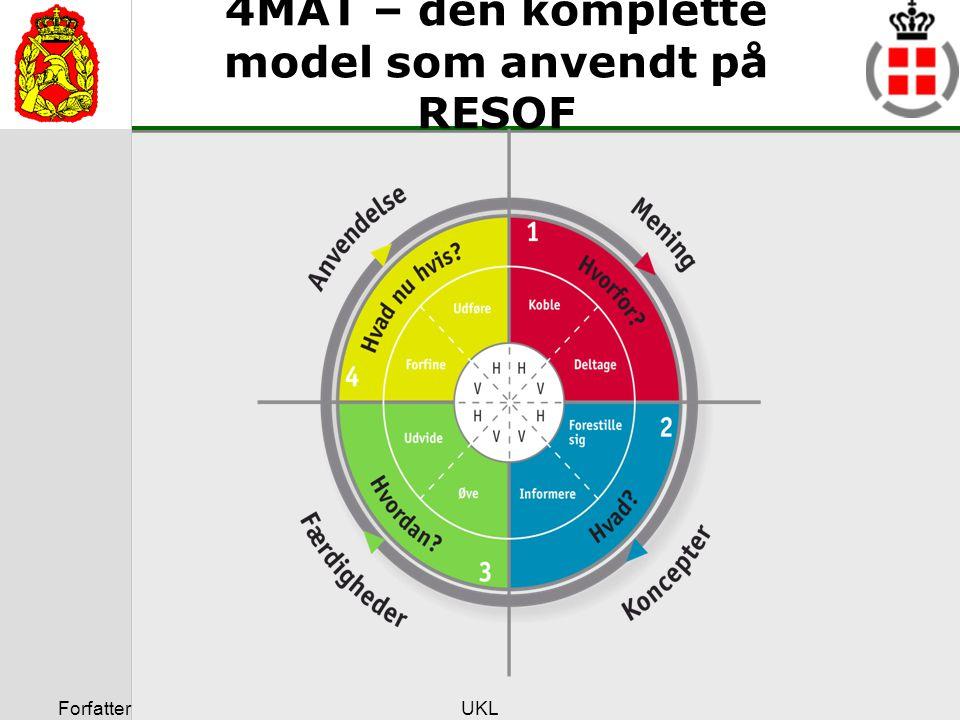 4MAT – den komplette model som anvendt på RESOF