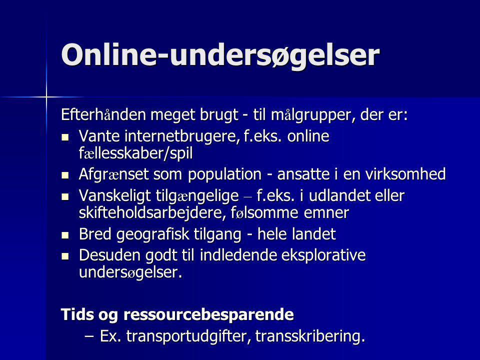 Online-undersøgelser