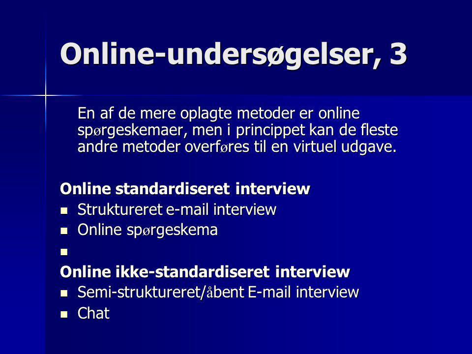 Online-undersøgelser, 3