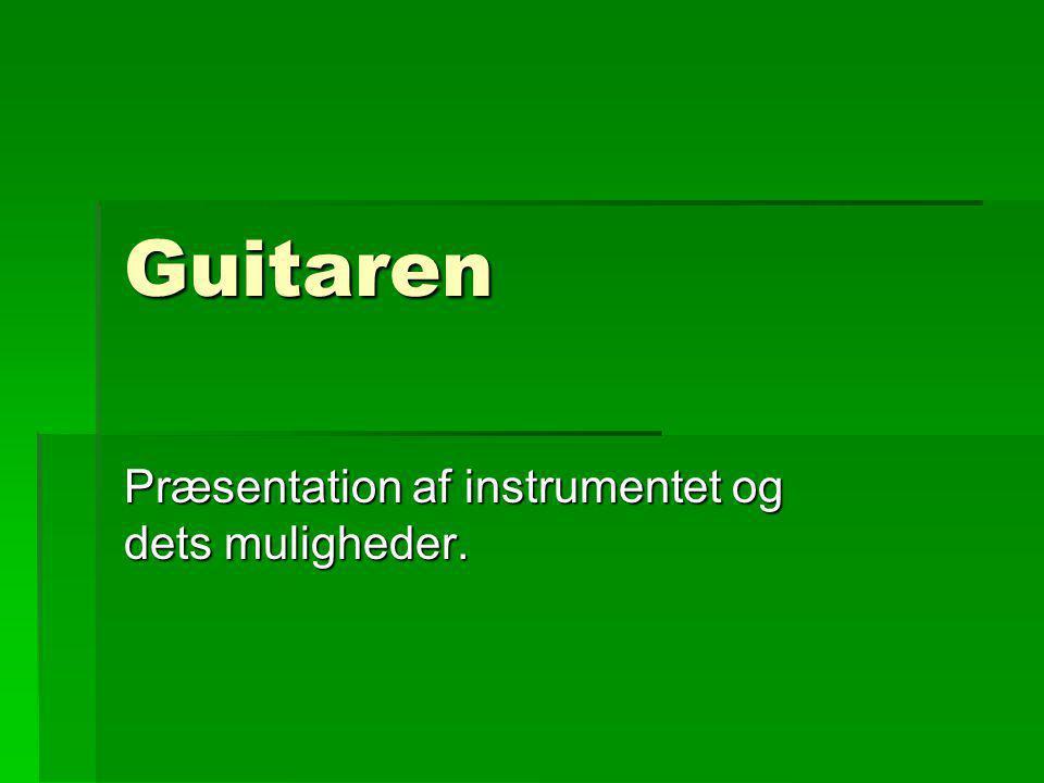 Præsentation af instrumentet og dets muligheder.